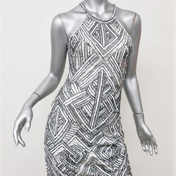 Parker Dresses & Skirts - Parker Sequin Dress Jaden White/Silver